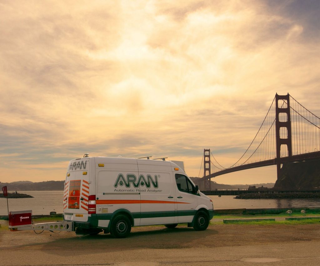 Fugro's Automatic Road Analyzer (ARAN) on location in San Francisco, California