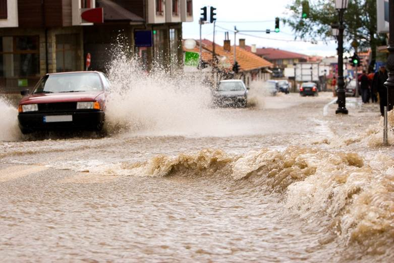Flooding in Bansko, Bulgaria