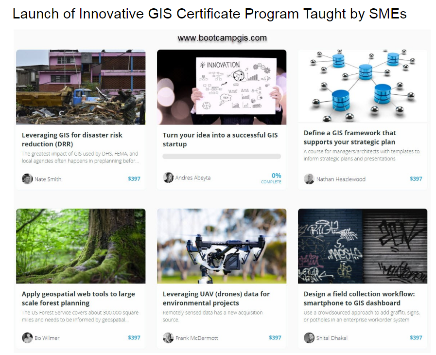 Launch of Innovative GIS Certificate Program Taught by SMEs