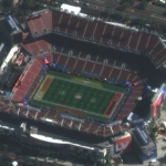 Satellite Imagery of SuperBowl LV at Raymond James Stadium, Tampa Bay