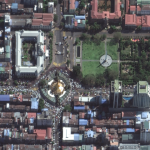 "Satellite Imagery: Myanmar Protests and ""We Want Democracy"" mural"