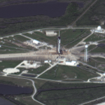 Maxar Satellite Imagery of Crew Dragon 2 and Falcon 9 at Cape Canaveral