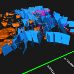 Graphics Caption: Display 3D polygons from DXF files, such as fault planes and magnetics data, in the 3D View.