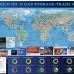 Complimentary World LNG Map at Gastech 2021 and World Gas Conference (WGC 2022) by Mudrock Media