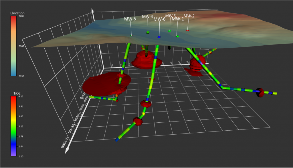 Display hole data using the new drillhole map type, manage the data in the Drillhole Manager, and view the data in true 3D.